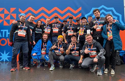 векпром ежегодно участвует в забеге московский марафон